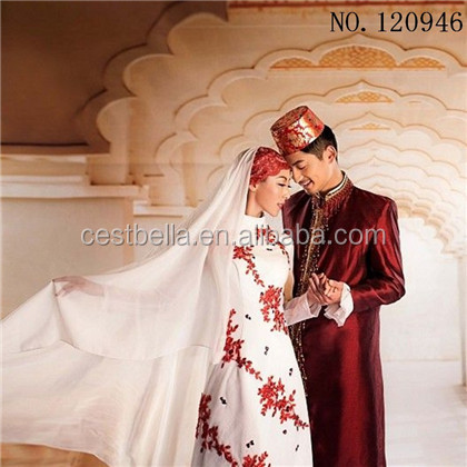 2016 muslim wedding party new style wedding dress suits