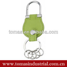 New arrival promoional embossed leather keychain