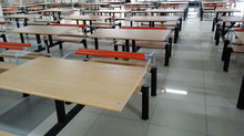new design cheap school canteen dining table and chair