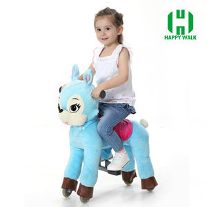 HI CE competitive price plush mechanical toys rocking horses wood for adults