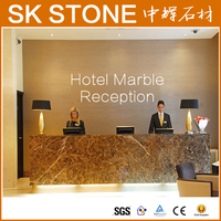 Prefab hotel furniture modern lighted hotel reception counter design Desk