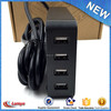 electrical power 4 usb charge ports extension plug universal socket outlet with CE FCC