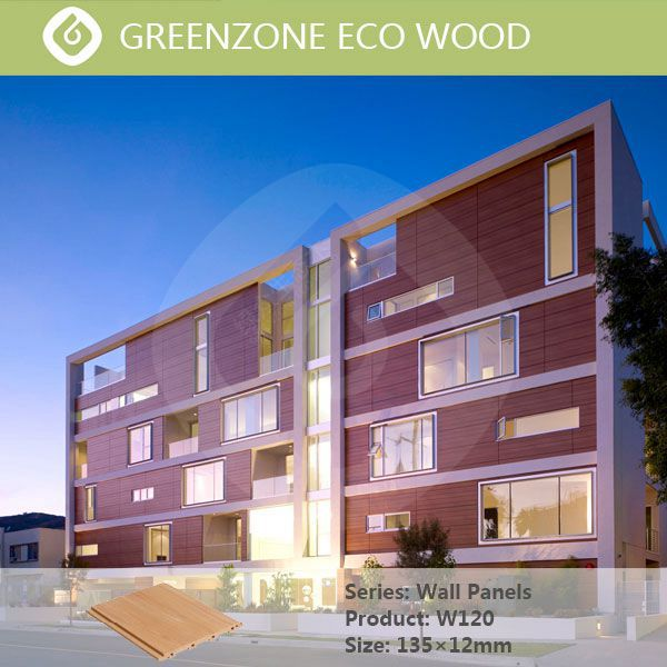 wood plastic composite rot proof exterior or interior wpc modern wood wall panels