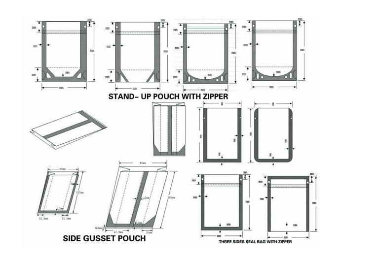 Stand Up Pouch Designs : Custom logo plastic bag stand up pouch with zipper buy