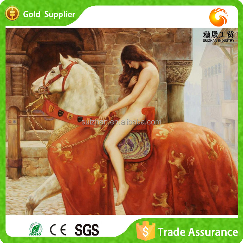 Factory Wholesale Acrylic Diamond Canvas Paintings Woman With Animal Sexy Photo