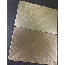 Decorative hairline brass color stainless steel sheet
