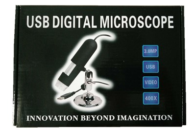 Portable USB microscope, usb microscope with bracket