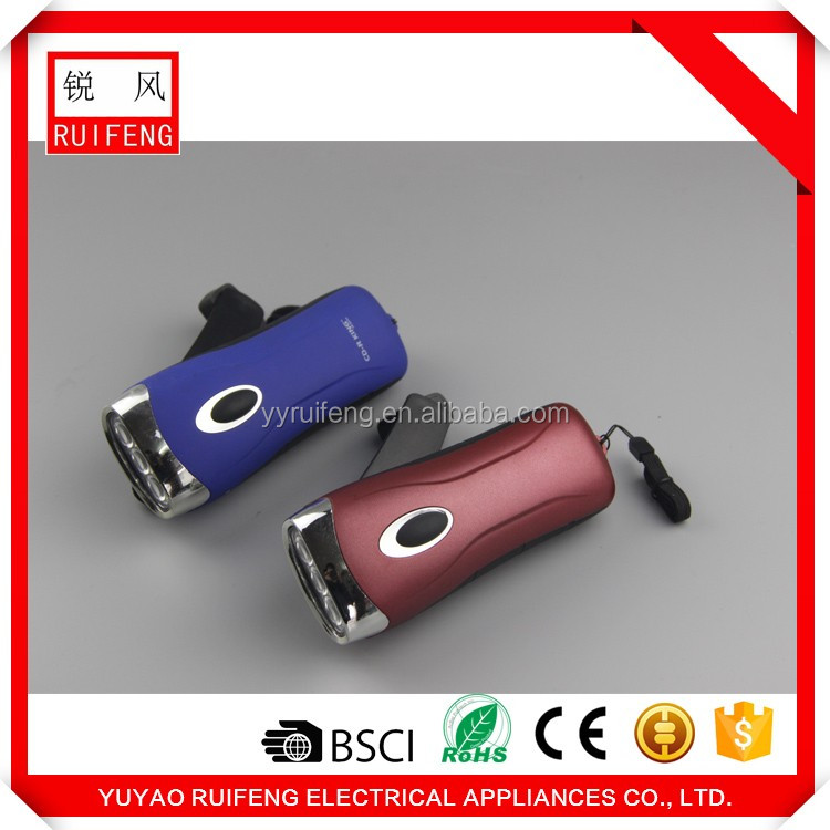 China supplier export product high quality low price LED dynamo flashlight