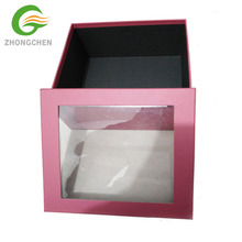 Hot sale luxury black white color paper cylinder round flower bouquet boxes flower hat packaging boxes