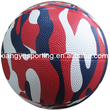natural size 7 camouflage rubber basketball