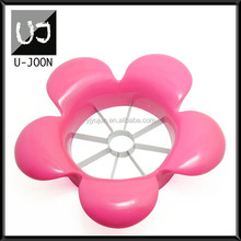 Flower Shape Plastic Apple Cutter/Fruit Cutter UJ-AS012