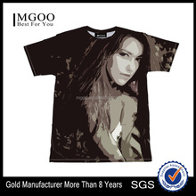 2017 MGOO Top Brand Sublimation Printing Tee Shirt Roll Neck Customized Printed Clothes Mens T-shirt With Sexy Girl Photos