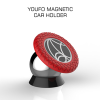YOUFO 2016 New Universal magnetic desktop lazy phone holder magnetic car mount holder