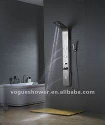 Best quality new design massaging resin shower panel,stainless steel shower wall panel S9017