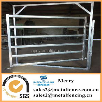 hot dipped galvanized corral horse fence metal post livestock farm fence panel