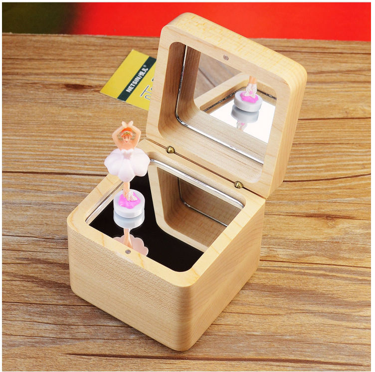 Good quality nice design hand cranked music box dancing doll