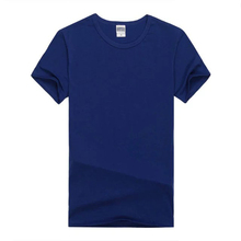 cotton spandex promotional all colors plain solid navy blue cheap t shirt in stock