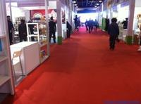 100%PP Loop Pile Red Or Blue Exhibition Carpet