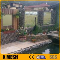 ASTM A975 standard heavily galvanized wire gabion cages for coastal protection with ISO 9001 certificate
