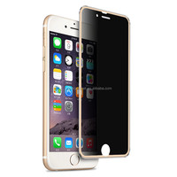Hot selling anti shock privacy tempered glass screen protector for 6s with retail package