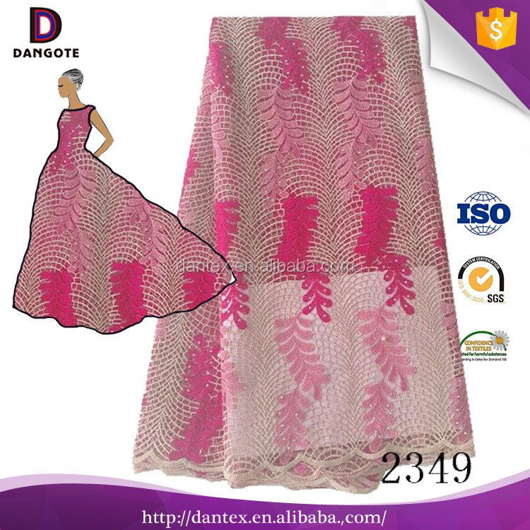 Guangzhou supplier embroidery french lace laser cut lace fabric/african lace fabric uk for nigerian
