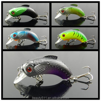 HOT sale 3D Eye Artificial Bait fishing lure Lures 8# Hook 5.5cm 9g crank Fishing Lure Hard Artificial Swim Baits 5colour