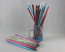 Factory online wholesale mixed color Aluminum drinking straws 215mm*8mm,customized logo aluminium straws beer/fruit/juice straws