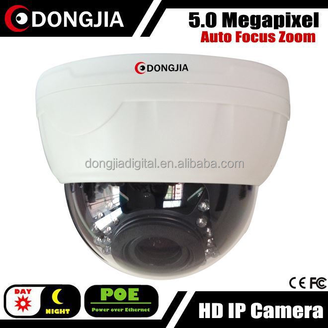 Day and night Vandalproof auto focus zoom poe hd onvif IP Camera 5 mp