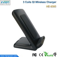 Hot New products qi wireless charger for huawei honor 7 high efficiency 3 coils wireless charger transmitter