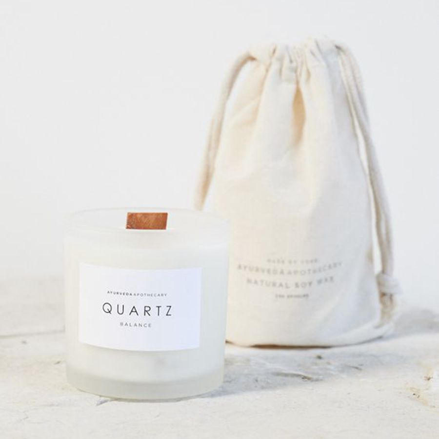 Custom Scented Candle with Woodwick and Bag