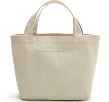 Multi-purpose Plain Cotton Canvas Lunch Tote Bags with Your Logo