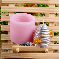 Nicole Factory Outlet LZ0007 Flexible Easy Unmold Custom Honeycomb Shape Silicone Candle Molds China