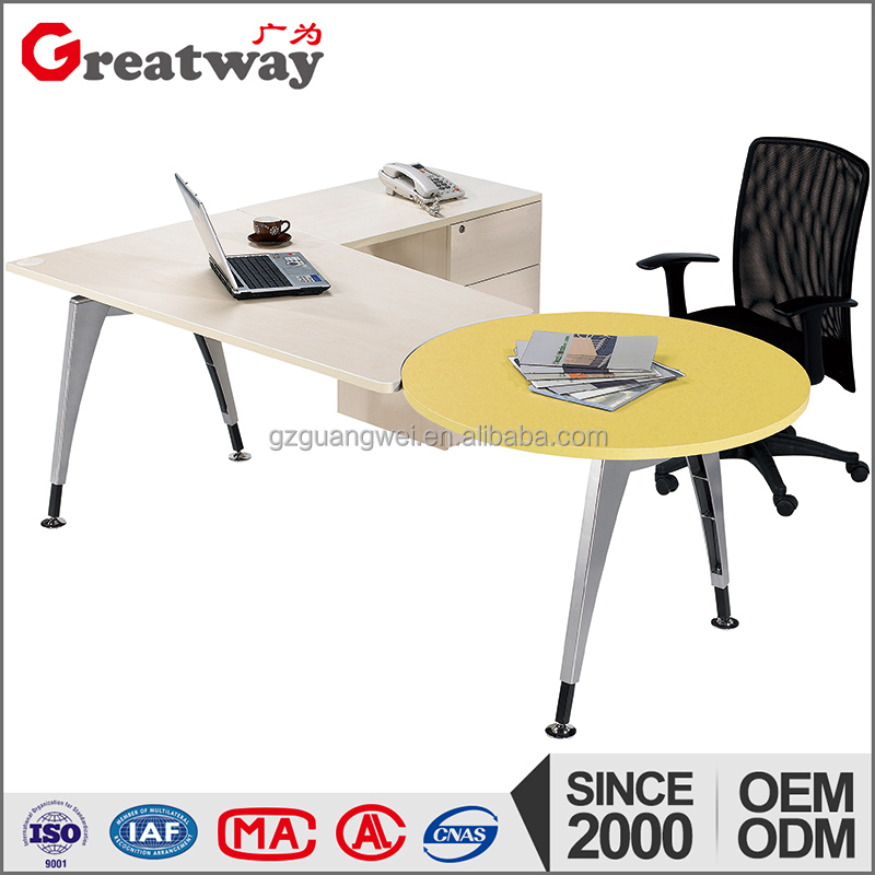 fashion design high quality metal reception table
