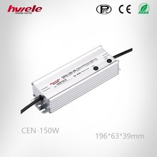 Waterproofed IP65 CEN-150W 24V LED power supply with PFC dimmable function wtih high warranty CE ROHS KC approved
