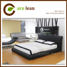 white king size leather bed C578 on sales