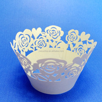 Romance Rose Laser Cut Cupcake Wrappers