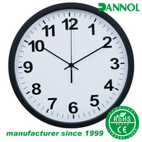 Guangzhou factory 12 inch plastic printed customized wall clock promotion gifts