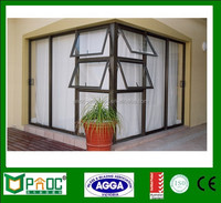 American Aluminum Hand Crank window,Top Hung window,Aluminium Awning Window For Bathroom With Australia Standard AS2047