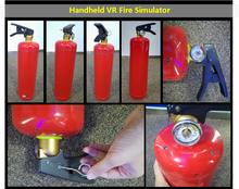 Virtual reality Fire extinguisher training simulator for schools communities office buildings