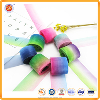 Promotional gift packaging wholesale ribbon colorful nylon organza ribbon