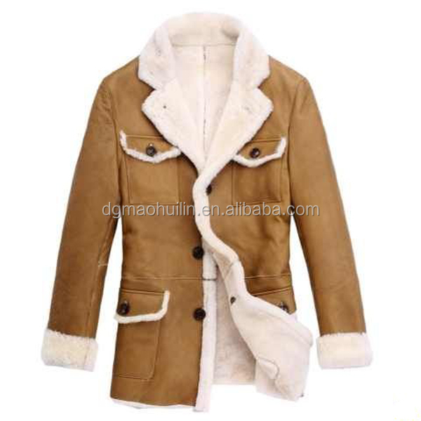 new fashion brand design high quality fur coat men jackets 2015 winter coat