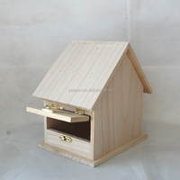 2016 Hot Sale Paulownia Wood Bird House