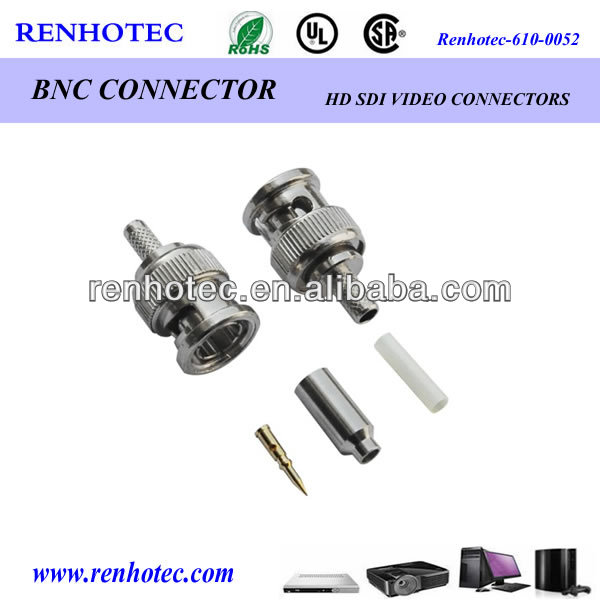 competitive price rf connector bnc connector male quick crimp cable rg316