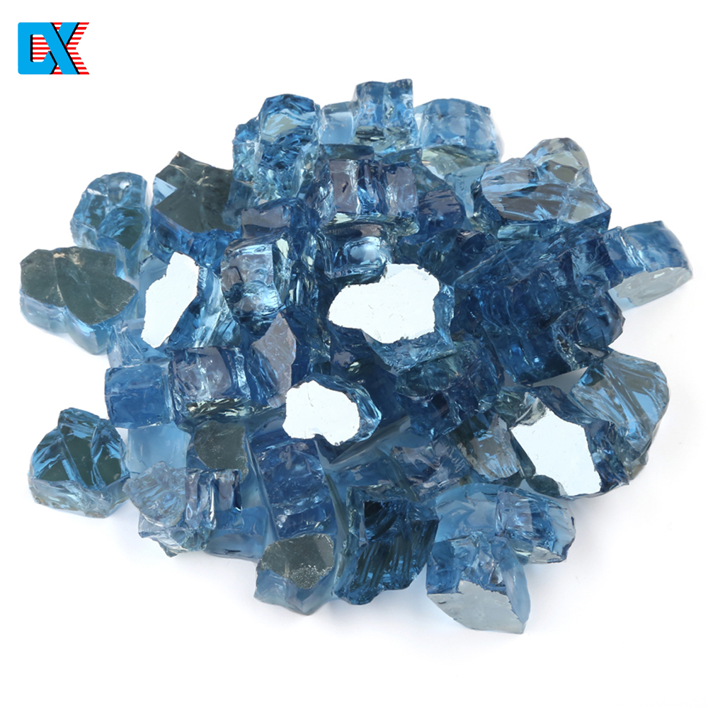 Wholesale 1/4 1/2 Inch Gas Crystals Reflective Fire Glass