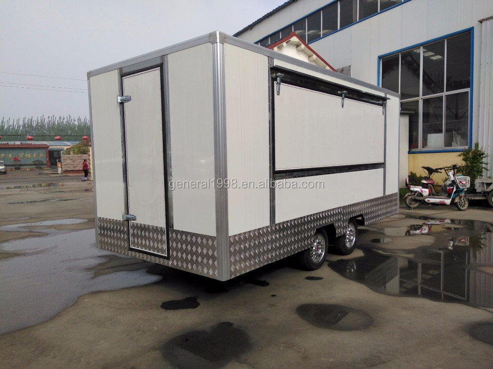 2017 Hot sales mobile fast food trailer made in China !