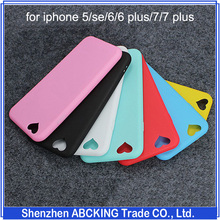 Hot sell candy solid color Silicon TPU Soft Cover Case for iphone 5/se/6/6 plus/7/7 plus