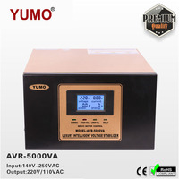 Exclusive 100VA 100KVA YUMO 140V 250VAC 220V 110V Digital LCD 3 phase 3 plug Automatic tin stabilizer