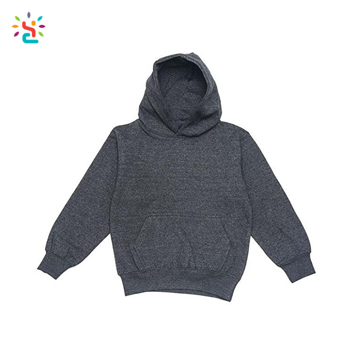 Wholesale blank streetwear cotton hoodie baby sweatshirt organic plain oversized hoodies for kids
