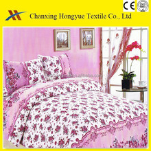 woven technics polyester print fabric pigment printed brushed fabric for bed sheets,mattress cover plain fabric for home textile
