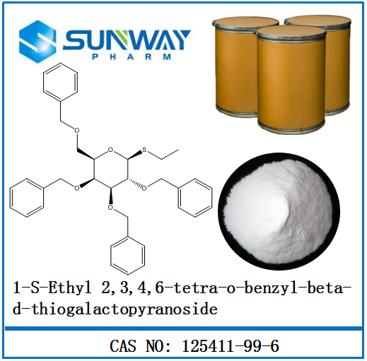 Inventory products 1-S-Ethyl <strong>2</strong>,3,4,6-tetra-<strong>o</strong>-benzyl-beta-d-thiogalactopyranoside 125411-99-6 immediate delivery